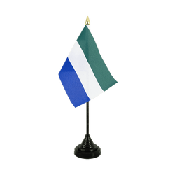Mini drapeau de table Sierra Leone 10 x 15 cm