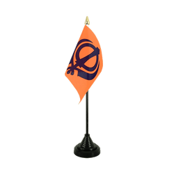 Mini drapeau de table Sikhisme - 10 x 15 cm