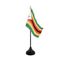 Mini drapeau de table Zimbabwe - 10 x 15 cm