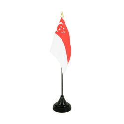 Singapore Table Flag 4x6""