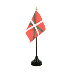 Mini drapeau de table Pays Basque 10 x 15 cm
