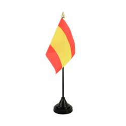 Spain without crest Table Flag 4x6""
