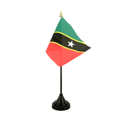 Saint Kitts and Nevis Table Flag 4x6""