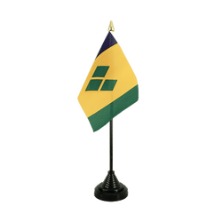 Mini drapeau de table Saint Vincent et les Grenadines 10 x 15 cm