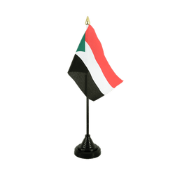 Sudan - Table Flag 4x6""