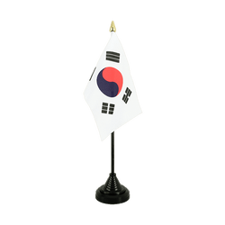 South Korea Table Flag 4x6""