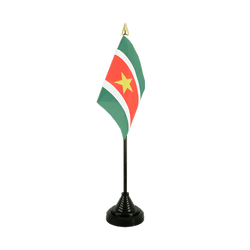 Mini drapeau de table Suriname - 10 x 15 cm