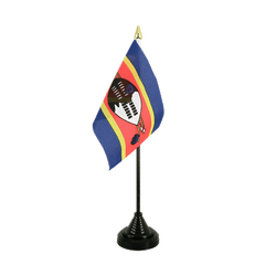 Mini drapeau de table Swaziland - 10 x 15 cm