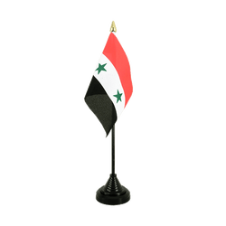 Syria Table Flag 4x6""