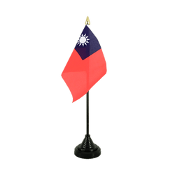 Taiwan Table Flag 4x6""