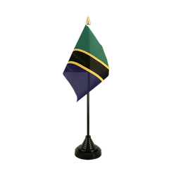 Tanzania Table Flag 4x6""