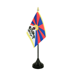 Mini drapeau de table Tibet - 10 x 15 cm