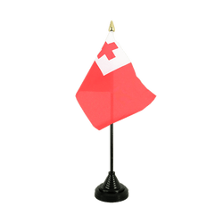 Tonga Table Flag 4x6""