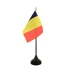 Mini drapeau de table Tchad - 10 x 15 cm