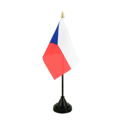 Czech Republic Table Flag 4x6""