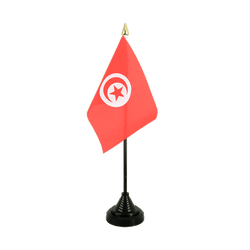 Tunisia Table Flag 4x6""