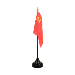 Mini drapeau de table URSS 10 x 15 cm