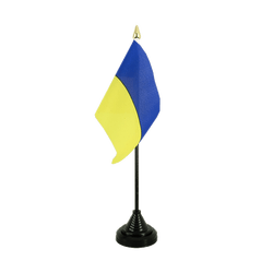 Mini drapeau de table Ukraine 10 x 15 cm