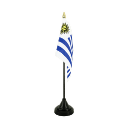 Mini drapeau de table Uruguay - 10 x 15 cm