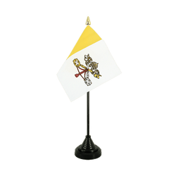 Vatican - Table Flag 4x6""