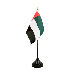 United Arab Emirates Table Flag 4x6""