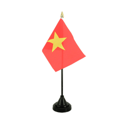 Vietnam Table Flag 4x6""