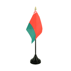 Belarus Table Flag 4x6""