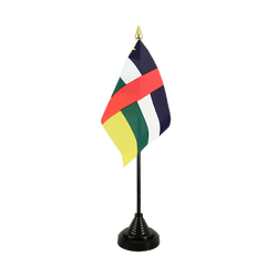 Mini drapeau de table République Centrafricaine - 10 x 15 cm