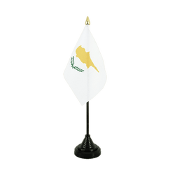 Cyprus Table Flag 4x6""