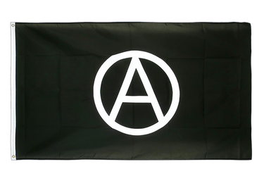 Grand drapeau Anarchie 150 x 250 cm