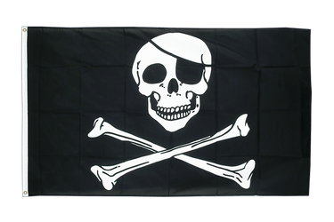 Pirat Skull and Bones - Flagge 150 x 250 cm