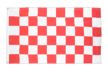 Checkered Red-White - 5x8 ft Flag