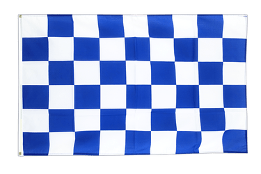 Checkered blue-white 2x3 ft Flag
