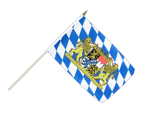 Bavaria lion Hand Waving Flag 12x18""
