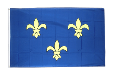 Île-de-France - 3x5 ft Flag