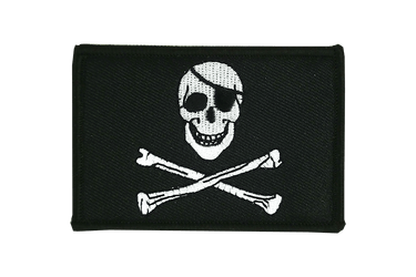 Pirate Skull and Bones Flag Patch
