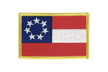 USA Südstaaten Stars and Bars 1861 - Flaggen Aufnäher 6 x 8 cm