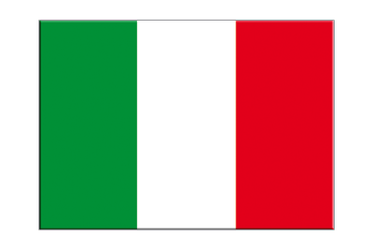 "Italy - Flag Sticker 3x4"", 5 pcs"