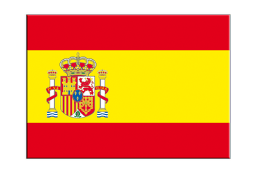 "Spain with crest Flag Sticker 3x4"", 5 pcs"