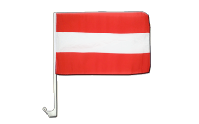 Austria - Car Flag 12x16""