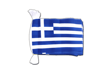 Greece Flag Bunting 6x9""