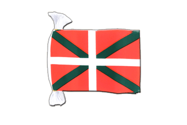 "Basque country Flag Bunting 6x9"", 9 m"