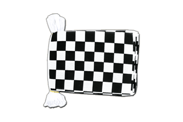 "Checkered Flag Bunting 6x9"", 9 m"