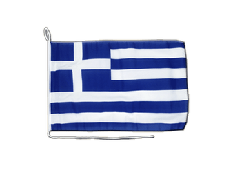 Greece Boat Flag 12x16""