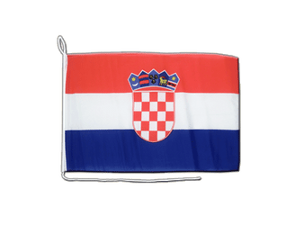 Croatia Boat Flag 12x16""