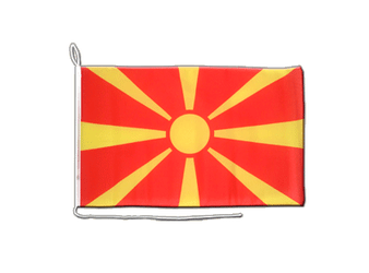 Macedonia - Boat Flag 12x16""