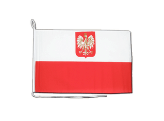 Poland with eagle Boat Flag 12x16""