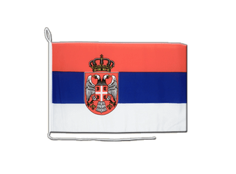Serbia with crest Boat Flag 12x16""