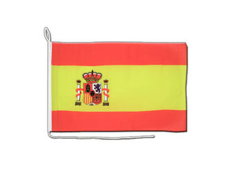 Spain with crest Boat Flag 12x16""