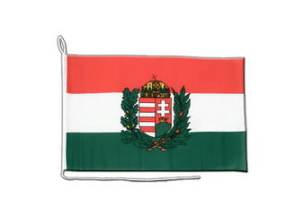 Hungary with crest Boat Flag 12x16""